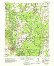 De Valls Bluff, Arkansas 1957 (1957) USGS Old Topo Map Reprint 15x15 AR Quad 260027
