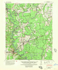 De Valls Bluff, Arkansas 1941 (1954) USGS Old Topo Map Reprint 15x15 AR Quad 260025