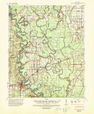 De Valls Bluff, Arkansas 1941 (1943) USGS Old Topo Map Reprint 15x15 AR Quad 260026
