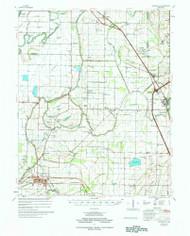 Deckerville, Arkansas 1977 (1977) USGS Old Topo Map Reprint 15x15 AR Quad 260034