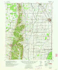 Dee, Arkansas 1958 (1958) USGS Old Topo Map Reprint 15x15 AR Quad 260037