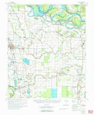 Dumas, Arkansas 1971 (1971) USGS Old Topo Map Reprint 15x15 AR Quad 260038