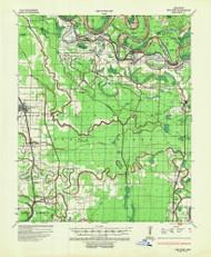 Red Fork, Arkansas 1935 (1953) USGS Old Topo Map Reprint 15x15 AR Quad 260274