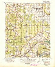 Edmondson, Arkansas 1939 (1942) USGS Old Topo Map Reprint 15x15 AR Quad 260039