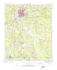 El Dorado, Arkansas 1951 (1974) USGS Old Topo Map Reprint 15x15 AR Quad 260046