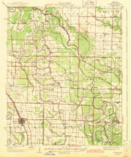 England, Arkansas 1943 (1943) USGS Old Topo Map Reprint 15x15 AR Quad 260052