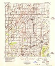 Evadale, Arkansas 1956 (1956) USGS Old Topo Map Reprint 15x15 AR Quad 260057