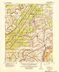 Evadale, Arkansas 1939 (1954) USGS Old Topo Map Reprint 15x15 AR Quad 260056