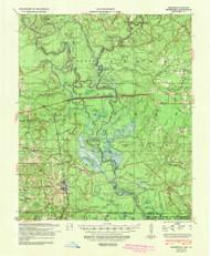Felsenthal, Arkansas 1939 (1942) USGS Old Topo Map Reprint 15x15 AR Quad 260068