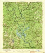 Felsenthal, Arkansas 1938 (1938) USGS Old Topo Map Reprint 15x15 AR Quad 260067