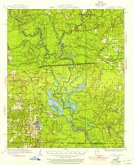 Felsenthal, Arkansas 1934 (1954) USGS Old Topo Map Reprint 15x15 AR Quad 260066