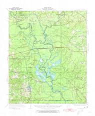 Felsenthal, Arkansas 1934 (1954) USGS Old Topo Map Reprint 15x15 AR Quad 260065