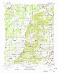 Gainesville, Arkansas 1958 (1978) USGS Old Topo Map Reprint 15x15 AR Quad 258531