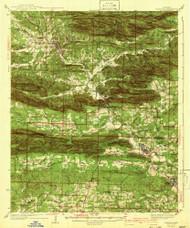 Glenwood, Arkansas 1942 (1942) USGS Old Topo Map Reprint 15x15 AR Quad 260070