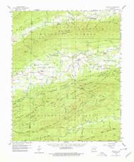 Gravelly, Arkansas 1960 (1979) USGS Old Topo Map Reprint 15x15 AR Quad 260075