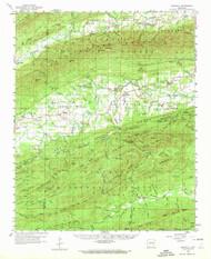 Gravelly, Arkansas 1960 (1972) USGS Old Topo Map Reprint 15x15 AR Quad 260076