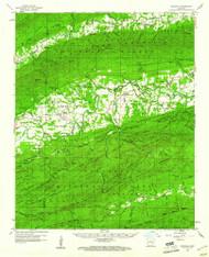Gravelly, Arkansas 1960 (1961) USGS Old Topo Map Reprint 15x15 AR Quad 260077