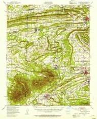 Greenwood, Arkansas 1947 (1954) USGS Old Topo Map Reprint 15x15 AR Quad 260079