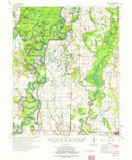 Gregory, Arkansas 1972 (1972) USGS Old Topo Map Reprint 15x15 AR Quad 260082
