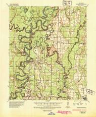 Gregory, Arkansas 1935 (1946) USGS Old Topo Map Reprint 15x15 AR Quad 260080