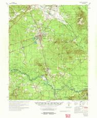 Gurdon, Arkansas 1972 (1973) USGS Old Topo Map Reprint 15x15 AR Quad 260084