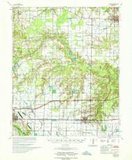 Hazen, Arkansas 1967 (1967) USGS Old Topo Map Reprint 15x15 AR Quad 260089