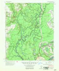 Henrico, Arkansas 1954 (1954) USGS Old Topo Map Reprint 15x15 AR Quad 260091