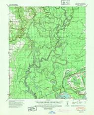 Henrico, Arkansas 1939 (1943) USGS Old Topo Map Reprint 15x15 AR Quad 260090