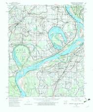 Horseshoe Lake, Arkansas 1960 (1982) USGS Old Topo Map Reprint 15x15 AR Quad 260102