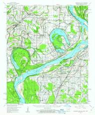 Horseshoe Lake, Arkansas 1960 (1963) USGS Old Topo Map Reprint 15x15 AR Quad 260103