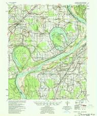Horseshoe Lake, Arkansas 1954 (1954) USGS Old Topo Map Reprint 15x15 AR Quad 260100