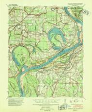 Horseshoe Lake, Arkansas 1939 (1941) USGS Old Topo Map Reprint 15x15 AR Quad 260099