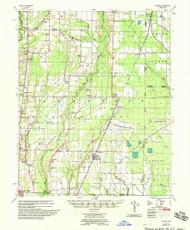 Hunter, Arkansas 1958 (1958) USGS Old Topo Map Reprint 15x15 AR Quad 260111