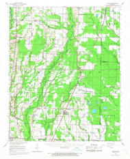 Hunter, Arkansas 1956 (1968) USGS Old Topo Map Reprint 15x15 AR Quad 260110