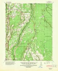 Hunter, Arkansas 1939 (1946) USGS Old Topo Map Reprint 15x15 AR Quad 260109