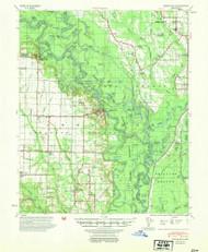 Indian Bay, Arkansas 1954 (1954) USGS Old Topo Map Reprint 15x15 AR Quad 260113
