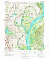 Jericho, Arkansas 1975 (1975) USGS Old Topo Map Reprint 15x15 AR Quad 260125