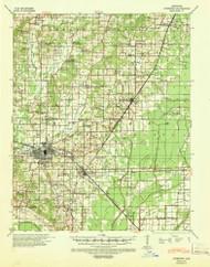 Jonesboro, Arkansas 1939 (1942) USGS Old Topo Map Reprint 15x15 AR Quad 260126