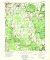 Kensett, Arkansas 1967 (1967) USGS Old Topo Map Reprint 15x15 AR Quad 260130