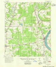 Lake Village, Arkansas 1955 (1955) USGS Old Topo Map Reprint 15x15 AR Quad 260136
