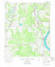 Lake Village, Arkansas 1955 (1955) USGS Old Topo Map Reprint 15x15 AR Quad 260135