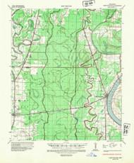 Lake Village, Arkansas 1936 (1949) USGS Old Topo Map Reprint 15x15 AR Quad 260134