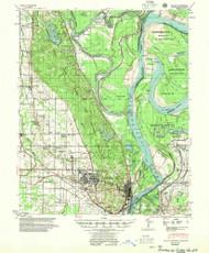 Latour, Arkansas 1955 (1955) USGS Old Topo Map Reprint 15x15 AR Quad 260140