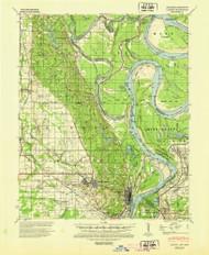Latour, Arkansas 1939 (1945) USGS Old Topo Map Reprint 15x15 AR Quad 260139
