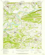 Lavaca, Arkansas 1947 (1954) USGS Old Topo Map Reprint 15x15 AR Quad 260144