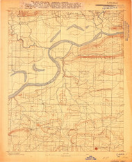 Lavaca, Arkansas 1906 (1906) USGS Old Topo Map Reprint 15x15 AR Quad 260143