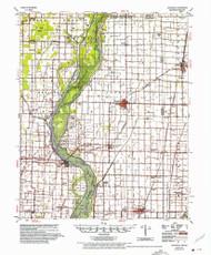 Leachville, Arkansas 1956 (1975) USGS Old Topo Map Reprint 15x15 AR Quad 260147