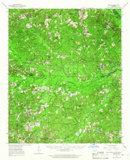 Louann, Arkansas 1964 (1966) USGS Old Topo Map Reprint 15x15 AR Quad 260156
