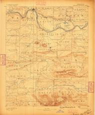 Magazine Mountain, Arkansas 1887 (1887) USGS Old Topo Map Reprint 15x15 AR Quad 260161
