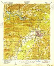Malvern, Arkansas 1949 (1949) USGS Old Topo Map Reprint 15x15 AR Quad 260166